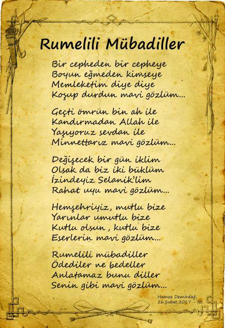 rumeli mubadilleri şiir